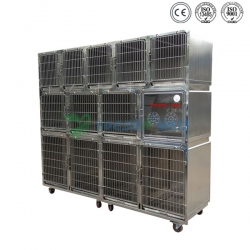 Stainless Pet Combination Cage YSVET0510